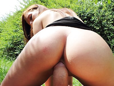 Ideal pornography in public flick with a tastey doll